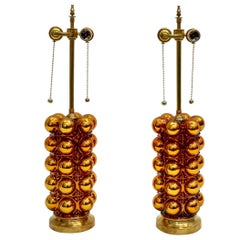 Gold Mercury Glass Bubble Lamps