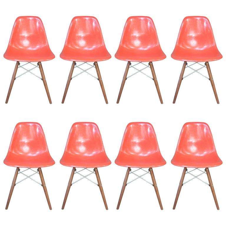 Eight Herman Miller Eames Dining Chairs