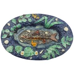 19th Majolica Palissy Fish Platter Thomas Sergent