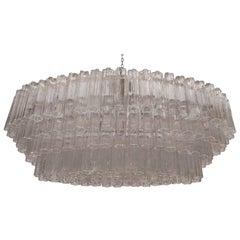 Mid-Century Venini Tronchi Glass Chandelier