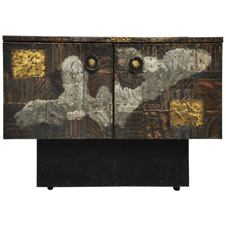 Paul Evans Mixed Metal Sideboard Cabinet