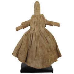 Early Cloth Pocket Doll Pictured in American Folk Dolls by Wendy Lavitt