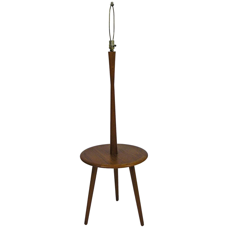 1960s Tripod Leg Teak Table Floor Lamp For Sale At 1stdibs