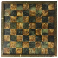 Vintage Brazilian Chess or Checkers Marble Gameboard