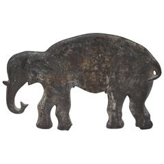 Cast Iron Elephant Carnival Arcade Shooting Gallery Target