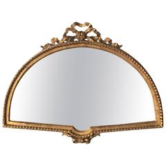 19th Century Italian Gilt Fan Shaped Mirror