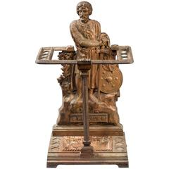 19th Century Cast Iron Stick Stand in the Form of William Wallace