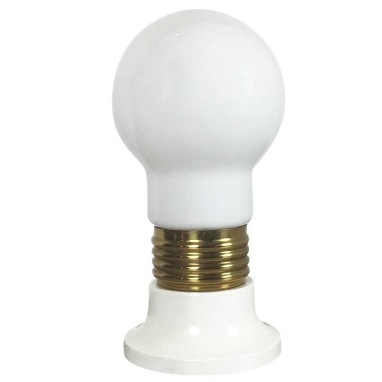 Modernist Vintage 1970s Italian Giant Glass Bulb Table / Floor Light