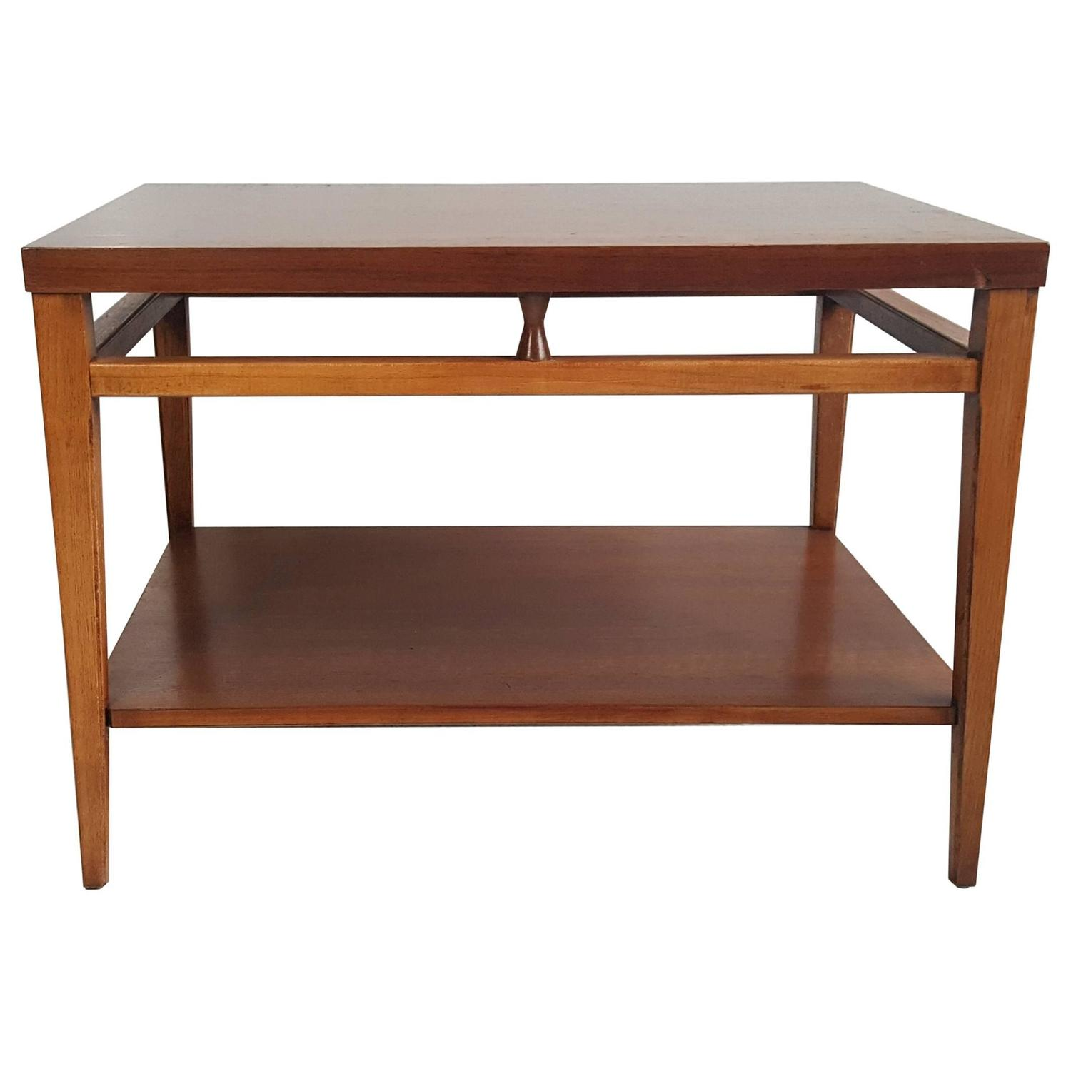 Exceptionnel Mid Century Modern Walnut And Rosewood End Table U0026quot;Tuxedou0026quot; By Lane