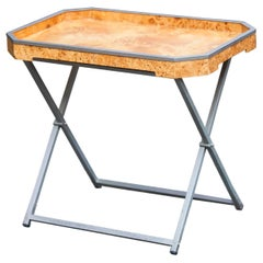 Tommaso Barbi Folding Table Burlwood