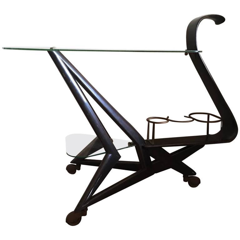 Rare Cesare Lacca Bar Cart
