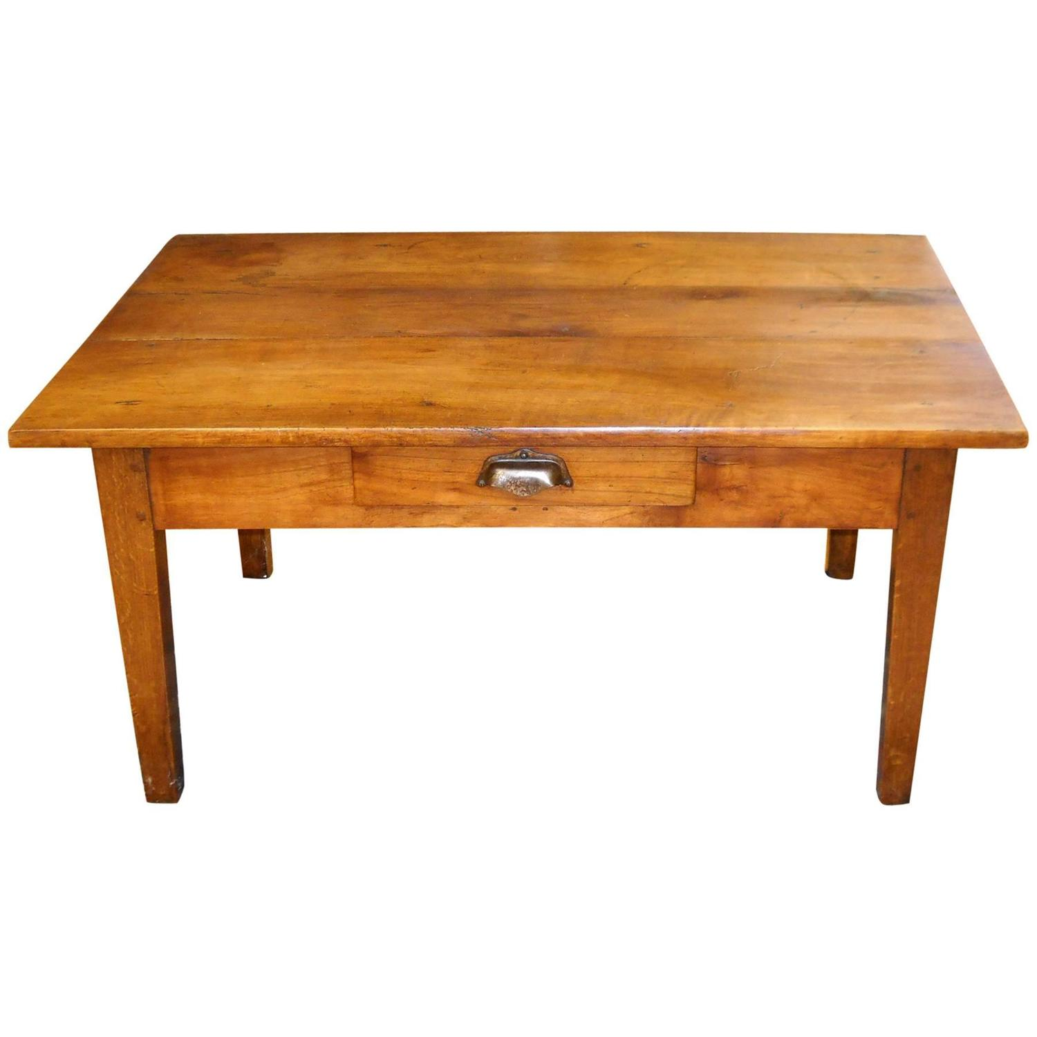 Coffee Table With Drawers Sale: One Drawer French Cherry Coffee Table For Sale At 1stdibs