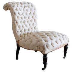 Buttoned Slipper Chair