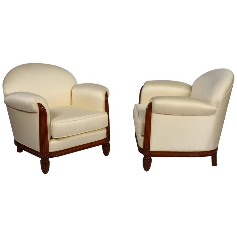 Pair of Paul Follot Armchairs