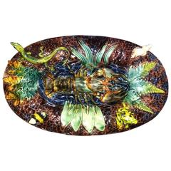 Thomas Victor Sergent-French Palissy Ware with Crayfish