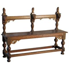 Dutch Baroque 17th Century Bench
