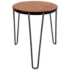 Beautiful Three-Legged Mid-Century Modern Stool