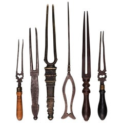 Six Early 20th Century Hair Detanglers, Kerala, India