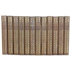 "Collection of 12, 1900s Leather Books ""The Writings Of John Burroughs"""