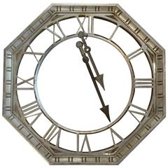 Antique Large Metal Clock Face with Hands