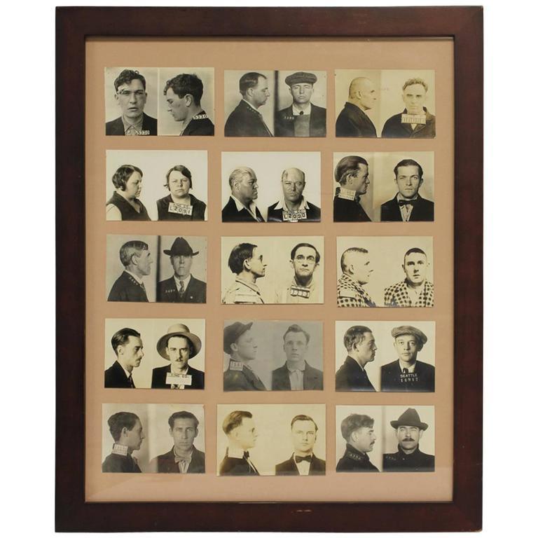 Large Collection Of Vintage Mugshots Men At 1stdibs