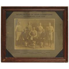 "Antique Photo of ""Worlds Tug of War Champions"""