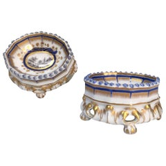 19th Century Nymphenburg Master Salt Cellars, Pair