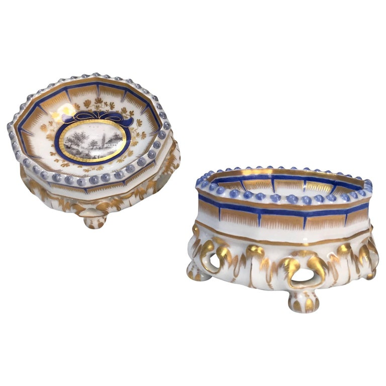 19th Century Nymphenburg Master Salt Cellars, Pair For Sale