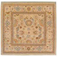 Very Fine Grey All-Over Floral Sultanabad Rug