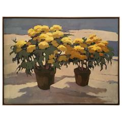 Large Painting of Yellow Flowers by Mimi Korach