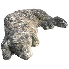 English Cast Stone Figure of a Cavalier King Charles Spaniel