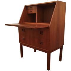 1960s Danish Dropfront Desk in the Style of Borge Mogensen