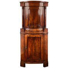 Antique Mahogany Corner Cabinet, circa 1840