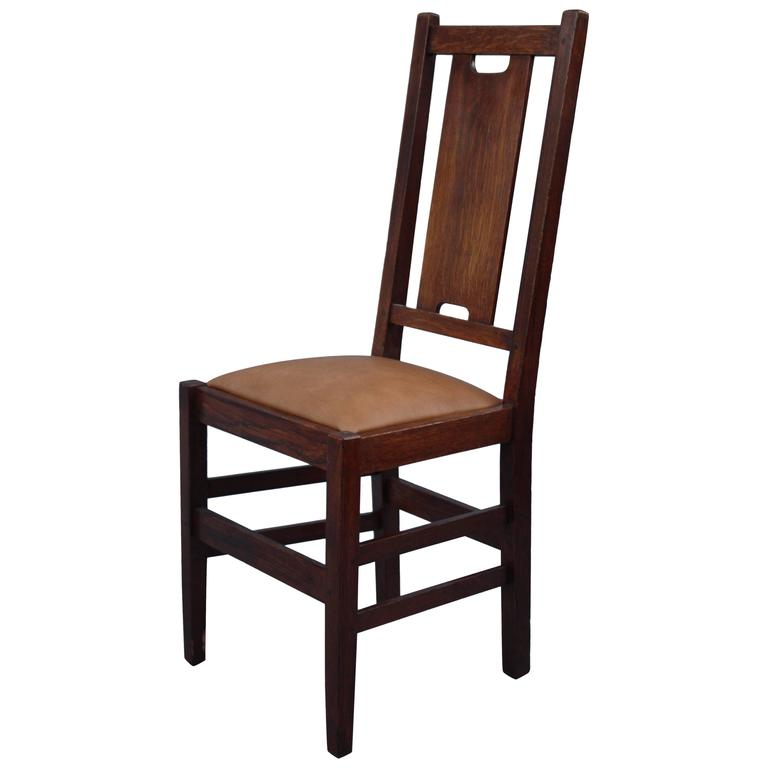 Superieur 1910 Signed Gustav Stickley Chair For Sale