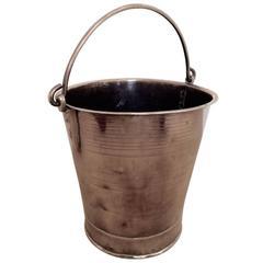 Mid-18th Century English Brass Milk Pail