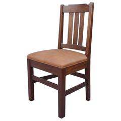 1910 Arts & Crafts Oak Side Chair