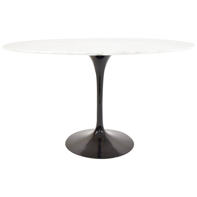 Early Eero Saarinen For Knoll Tulip Table Base With Marble Top At - Saarinen table base for sale