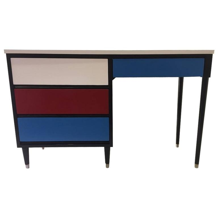 1950s Colorful Desk By Morris Of California For Sale At