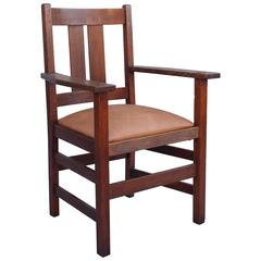 1910 Signed Stickley Armchair