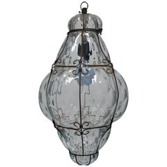 Clear Italian Lantern Pendant Light