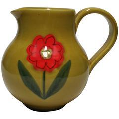 Italian Ceramic Pottery Pitcher or Vase