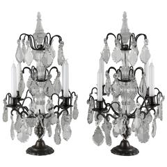 Pair of French Girandoles or Table lights