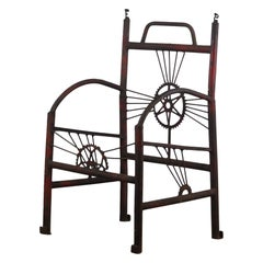 Early 20th Century Folk Art Advertising Bicycle Chair