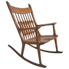 Exceptional Studio Craft Oversized Rocker Manner of Sam Maloof