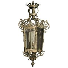 A 19th C French Neoclassical Gilt Bronze Electrified