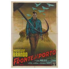 """""""On the Waterfront / Fronte del Porto"""" Original Italian Movie Poster"""