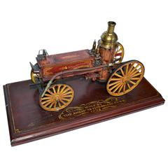 Craftsman-Made Model of an 1892 Columbian Fire Pumper