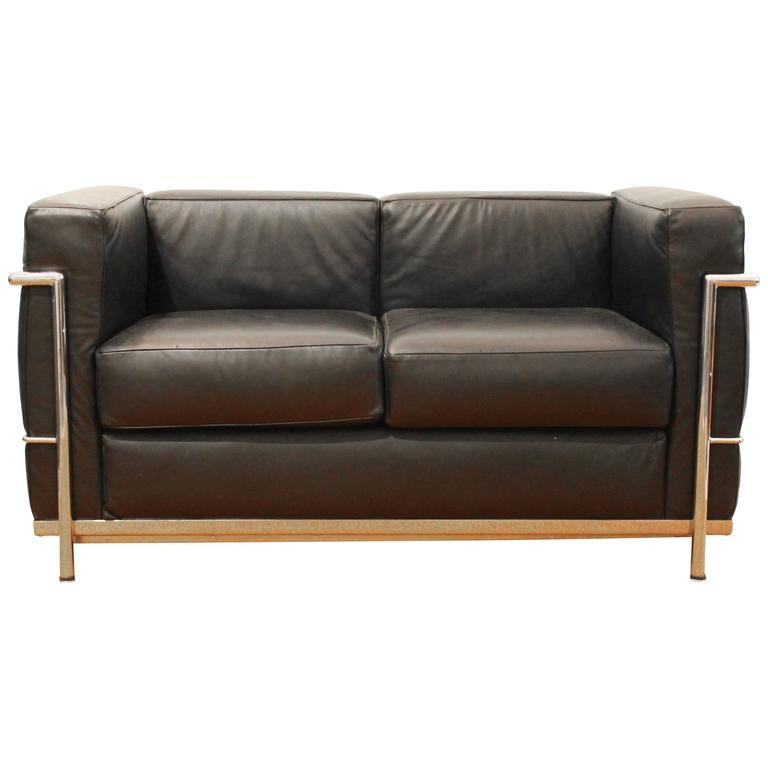 Lc2 sofa by le corbusier for alivar for sale at 1stdibs Le corbusier lc2 sofa