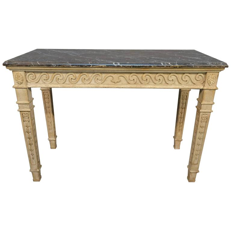 19th Century French Painted Console Table For Sale At 1stdibs