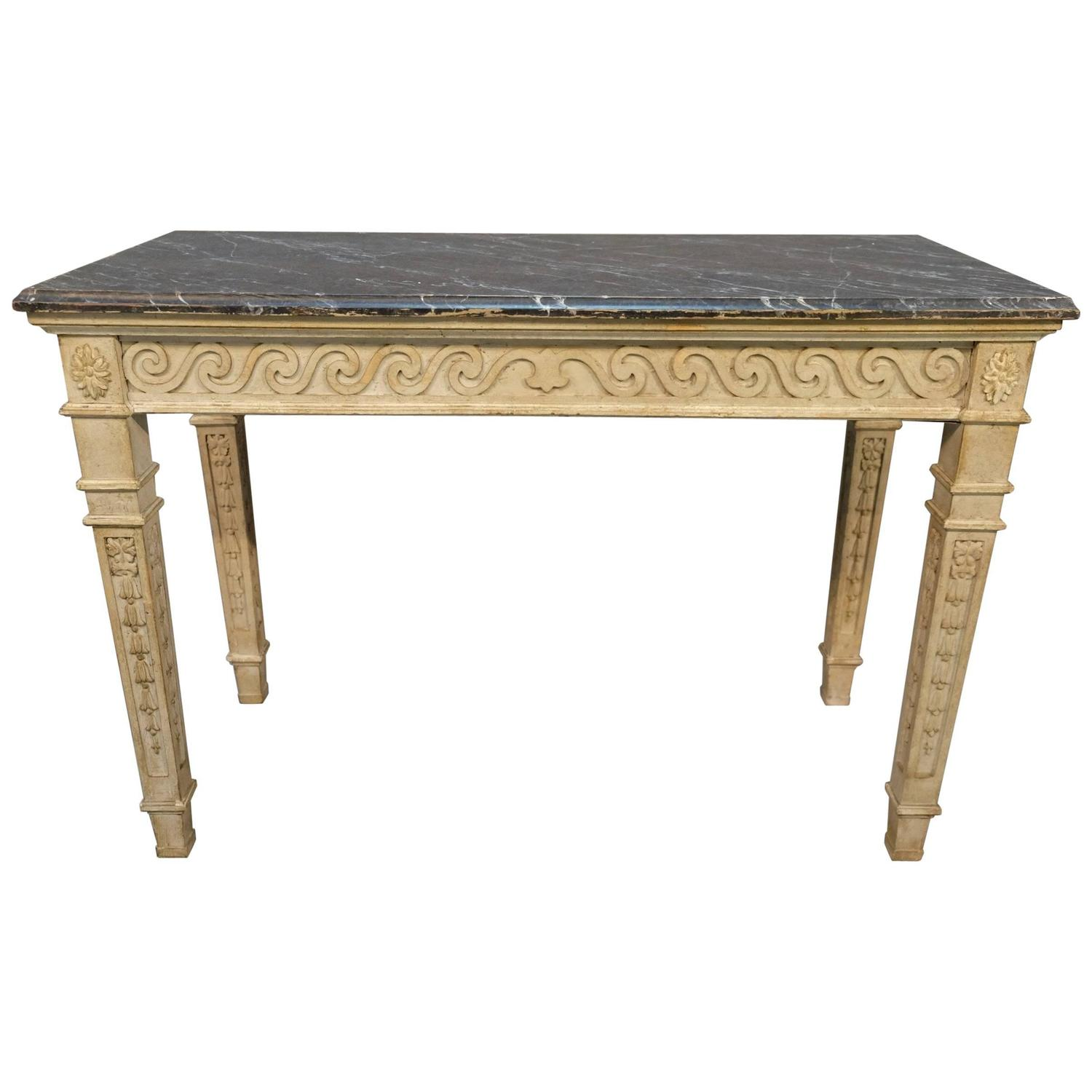 19th Century French Painted Console Table